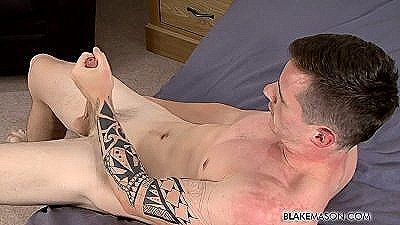 New Guy Daniel Strokes Out A Load