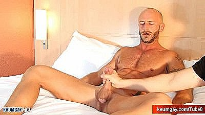 Aymerik, A Very Sexy Muscle Dude, Gets His Huge Cock Wanked By Me!