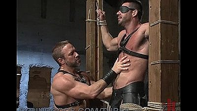 New Muscle God, Billy Santoro, Bound And Fucked By House Dom