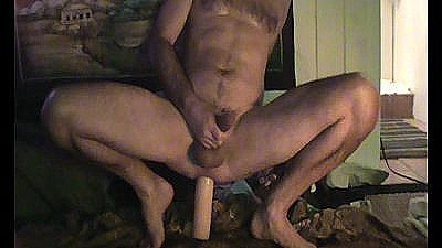 Hot Guy Fucks A Big Dildo