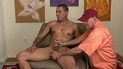 Str8 Manly Muscle Hunk Freaks As I Fondle Balls And Jacks Him Till He Cums.