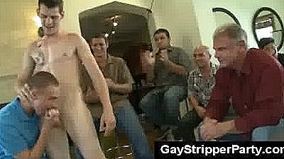 Public Sex At Hot Gay Stripper Party