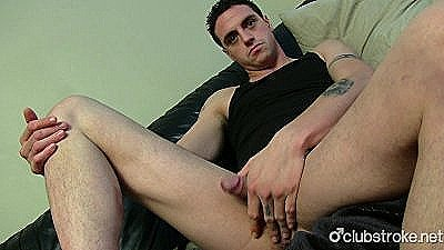 Tattooed Straight Guy James Masturbating