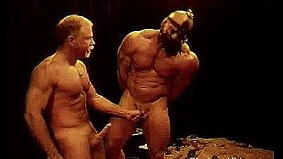 Squeezing And Punching Huge Bodybuilder`s Balls.
