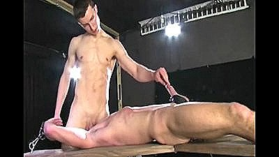 Dungeon Dick Torture Of Naked Hunk - Edged!