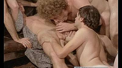 Rough Vintage Orgy Scene From Ballet Down The Highway (1975)