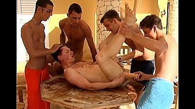 Five Guys Have An Outdoor Gangbang