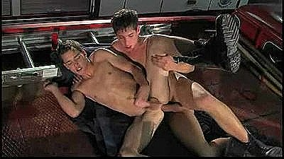 Young Smooth Firemen Having Fuck Sucking And Fucking Bare.