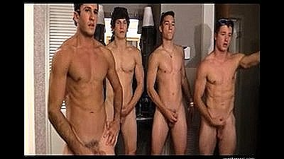 Four Guys Jerk Off Contest