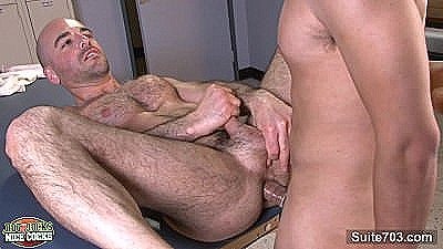 Handsome Jocks Adam Russo And Lex Sabre Massage And Fuck In The Locker Room