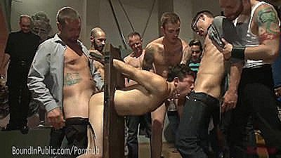 Bar Slut Gang Fucked By Crowd