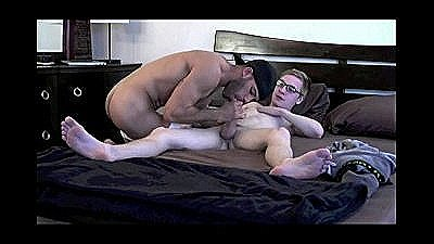 Cute Nerdy Twink Fucking Older Man