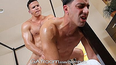 Gayroom Twink`s Muscled Bf Oils And Massages Him