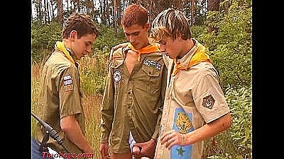 Young Boys Playing Boyscouts