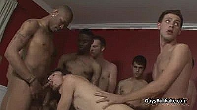 Interracial Gay Gangbang Party