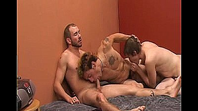 Double Dicked Sperm Catchers - Scene 1