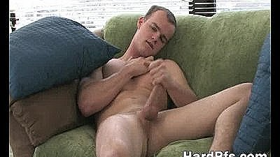 Cute Guy Rubbing His Massive Penis