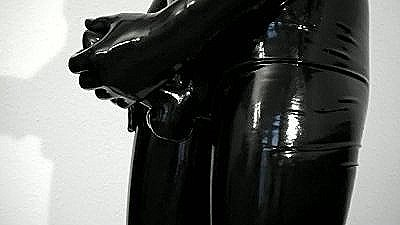 Wearing My Tight, Shiny Latex Pants And Gloves