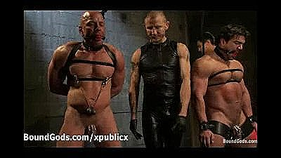 Gagged And Bound Gays Orgy Submission