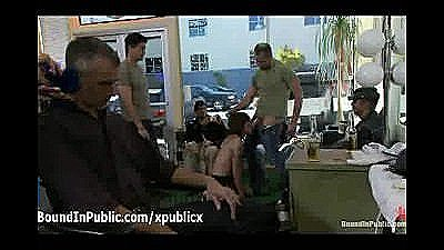 Gay Sucks Dicks In Hairdresser Shop In Working Time