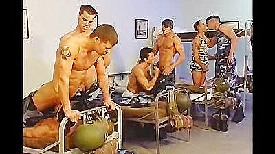 Bisexual Euro Air Force Orgy