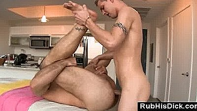 Gay Bear Loves It Up His Ass From Younger Gay Twink