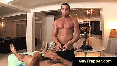 Gay Massage Guy Sucks Dick From Client And Makes Him Suck Dick