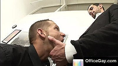 Gay Blowjob At The Office During Working Hours