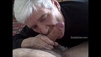 Grandpa Silverdaddy Sucking Uncut Cock