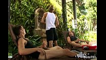 Sexual Gay Jocks Fuck In Threesome Outdoors